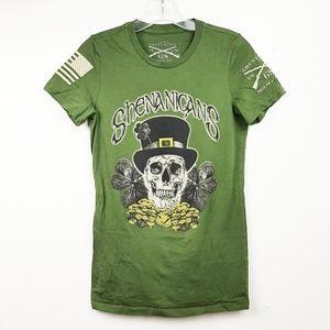 Grunt Style Shenanigans Skull St Paddys Day Green